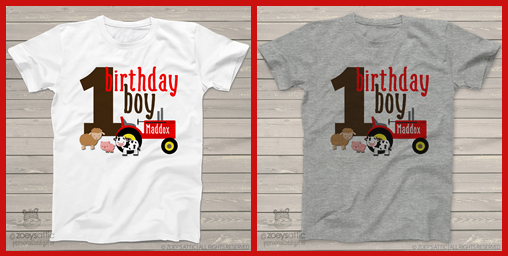The Birthday Boy Red Tractor Shirt With Adorable Little Farm Animals Is A Top Selling Not Only For Boys But Girls Too